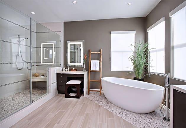 Готовый вариант дизайна ванной после демонтажа