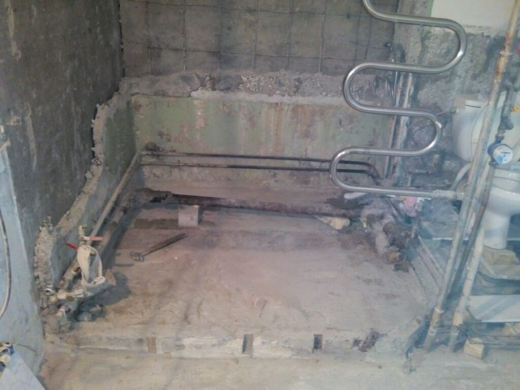 Место демонтажа сантехкабины