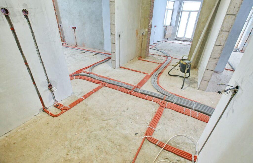 Обустройство проводки в полу в квартире